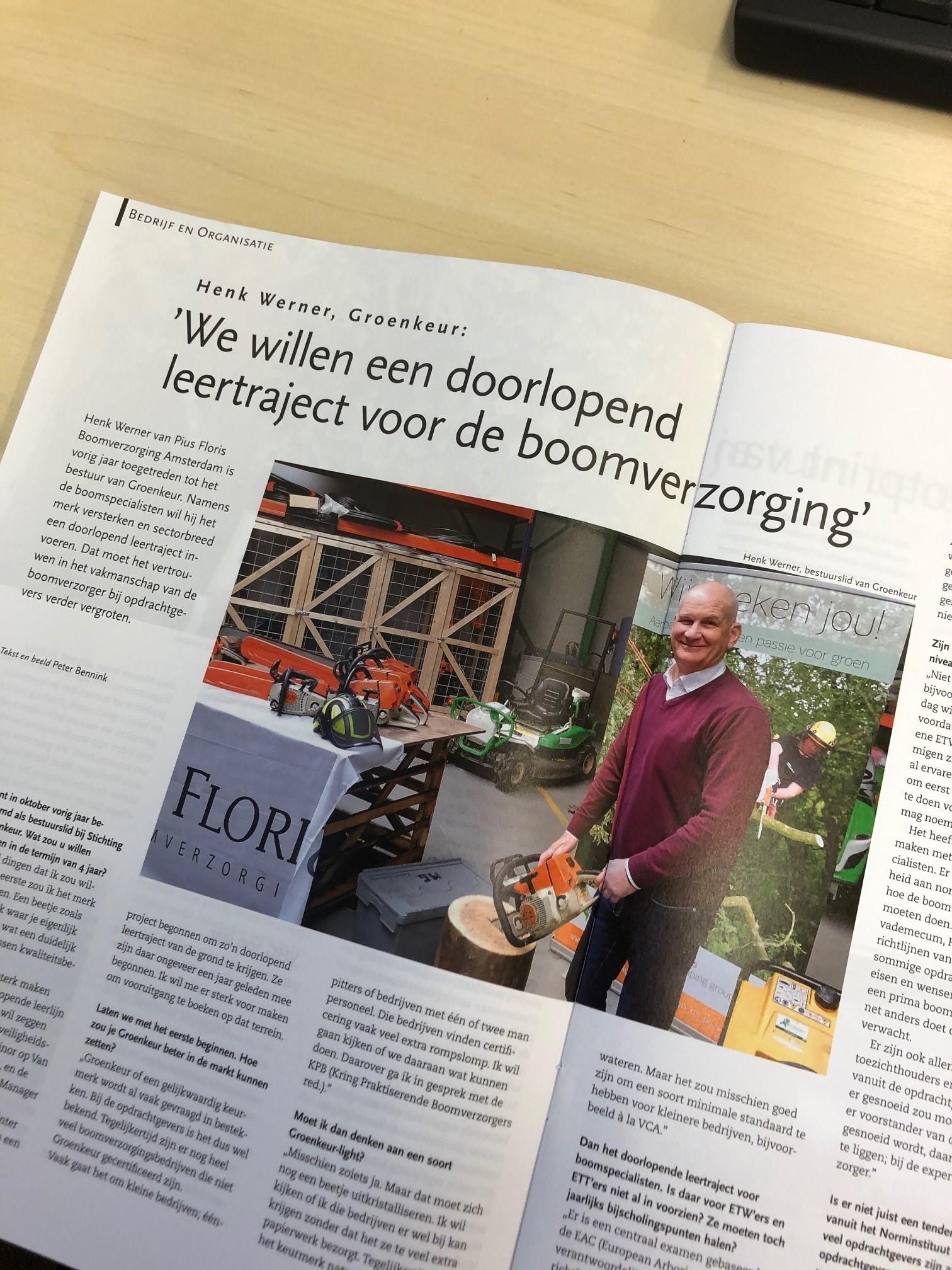 Henk Werner in Tuin en Landschap