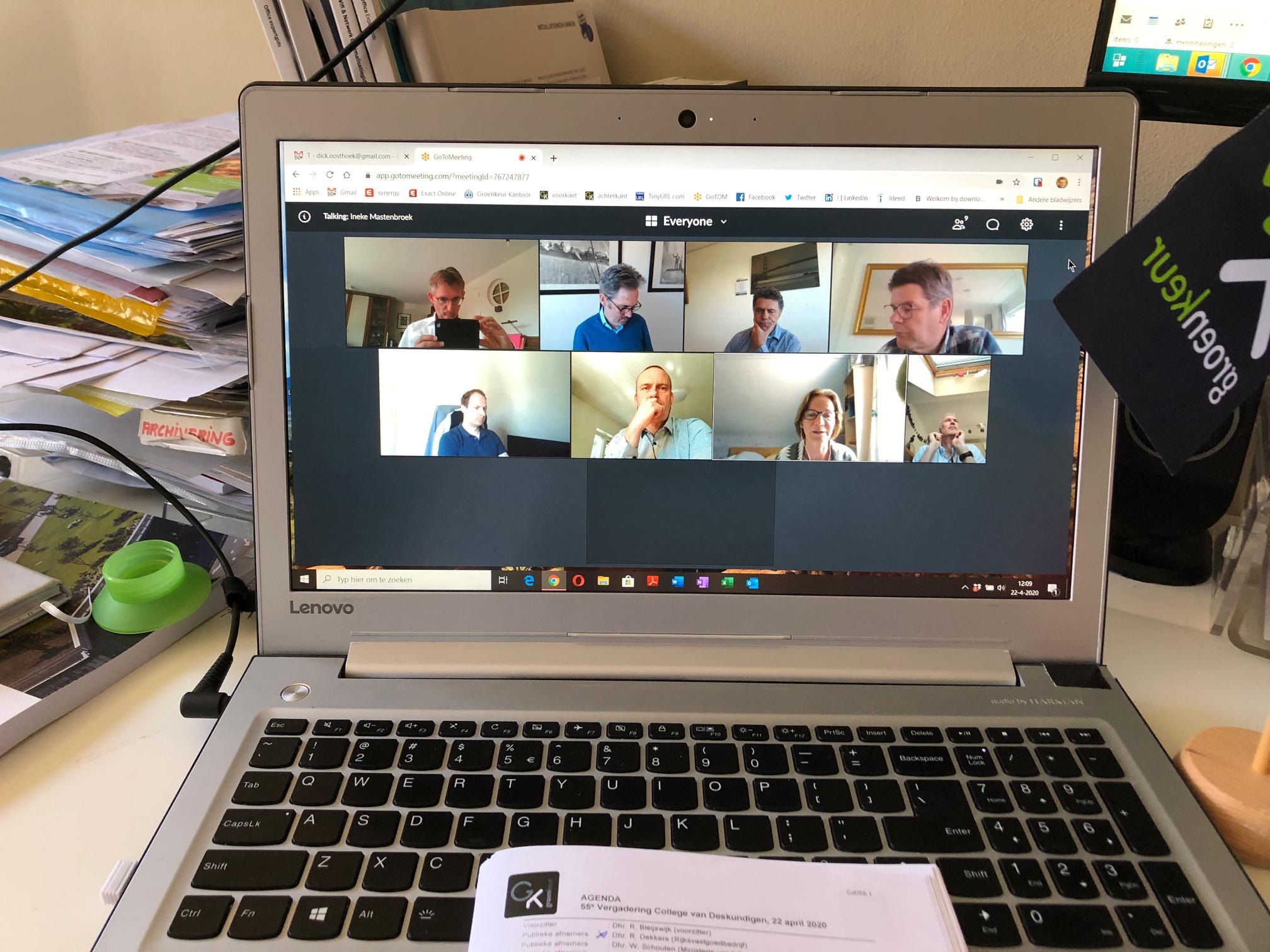 College van Deskundigen vergadert per video
