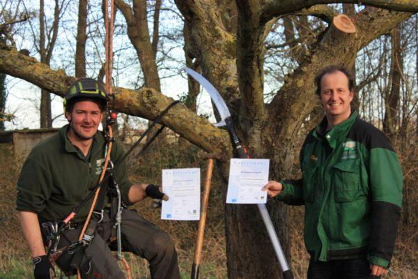 100ste Groenkeur boomverzorgings certificaat