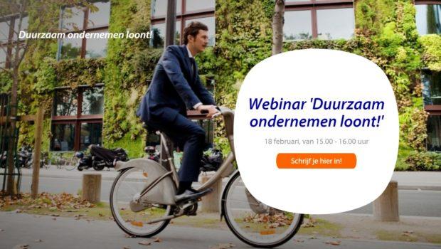 Webinar 'Duurzaam ondernemen loont!